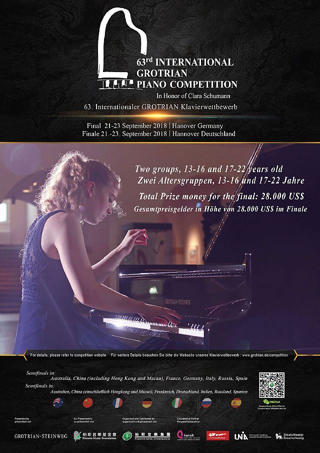 63e Internationaal Grotrian Piano Competition